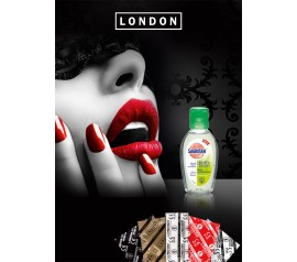 100 London maasika kondoomi + 50ml libesti
