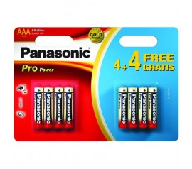 PANASONIC ALKÁLI POWER BATTERY AAA 8pc