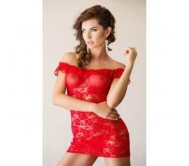 Lace dress Veronica - red