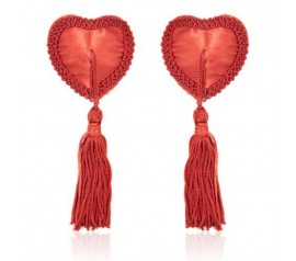 Heart nipples tassels red