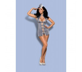Stewardess 3 pcs costume grey