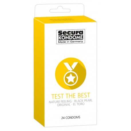 Secura kondoomide segupakk Test the Best 24 tk