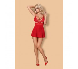 Babydoll & thong red 838-BAB-3