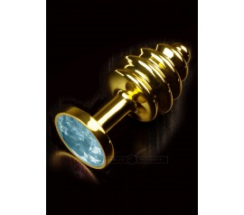 Jewellery Ribbed in Gold blue