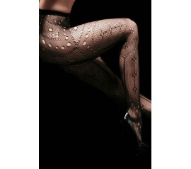 Geometric Collage Fishnet Pantyhose