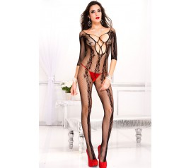 Floral Vine Fishnet Body Stockings