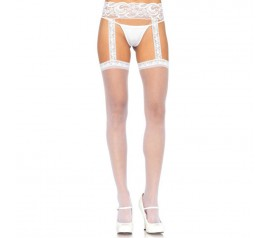 Sheer Thigh Highs - WHITE - O/S - HOSIERY